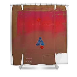 Tipi With Fire Shower Curtain by Charles Stuart