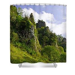 Tissington Spires Shower Curtain by Rod Johnson