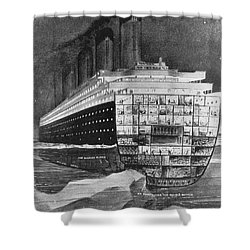 Titanic: Shipwreck, 1912 Shower Curtain by Granger