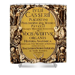 Title Page, Giulio Casserios Anatomy Shower Curtain by Science Source