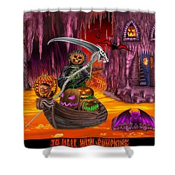 To Hell With Pumpkins Shower Curtain by Glenn Holbrook