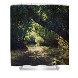 To My Happy Place Shower Curtain by Laurie Search