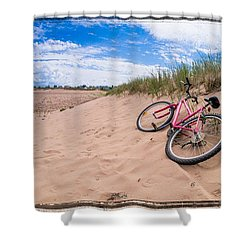 To The Beach Shower Curtain by Edward Fielding