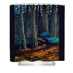 To The Woods Shower Curtain by Jeanette Jarmon