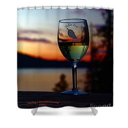Toasting A Beautiful Evening Shower Curtain by Patrick Witz