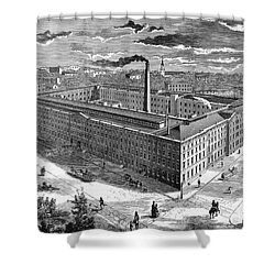 Tobacco Factory, 1876 Shower Curtain by Granger