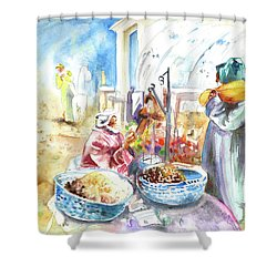 Together Old In Morocco 01 Shower Curtain by Miki De Goodaboom