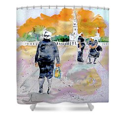 Together Old In Portugal 03 Shower Curtain by Miki De Goodaboom