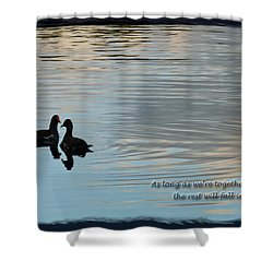 Shower Curtain featuring the photograph Together by Steven Sparks