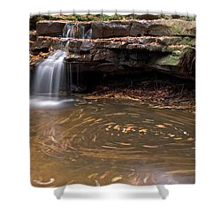 Shower Curtain featuring the photograph Tolliver Falls by Jeannette Hunt