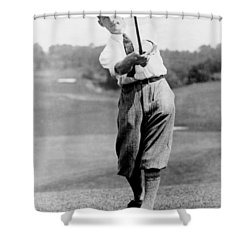 Tom Armour Wins Us Golf Title - C 1927 Shower Curtain by International  Images