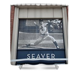 Tom Seaver 41 Shower Curtain by Rob Hans