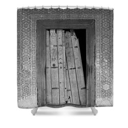Shower Curtain featuring the photograph Tomb Door by David Pantuso