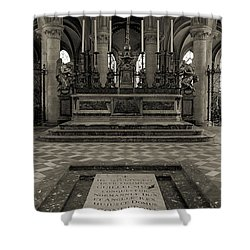 Tomb Of William The Conqueror Shower Curtain by RicardMN Photography