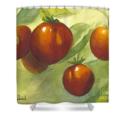 Shower Curtain featuring the painting Tommy Toes by Phyllis Howard