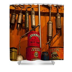Tool Shop Shower Curtain by Karol Livote