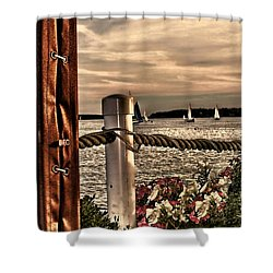 Top Of The Bay Shower Curtain by Tom Prendergast