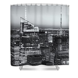 Top Of The Rock Twilight Vii Shower Curtain by Clarence Holmes