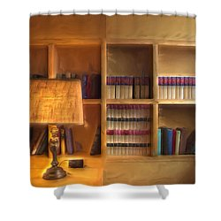 Top Pot's Library Shower Curtain by Heidi Smith