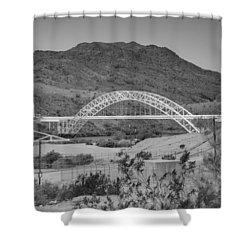 Topock Bridge Shower Curtain by Ricky Barnard