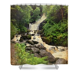 Torc Waterfall In Ireland Shower Curtain