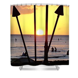 Torched Sunset Shower Curtain