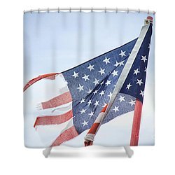 Torn American Flag Shower Curtain by James BO  Insogna
