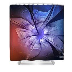 Torn Flower Shower Curtain by Jutta Maria Pusl