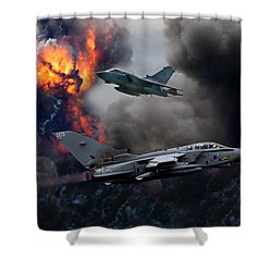 Tornado Gr4 Attack Shower Curtain
