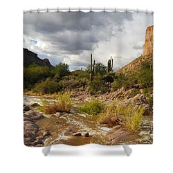 Shower Curtain featuring the photograph Tortilla Flat by Tam Ryan