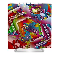 Totally Retro Shower Curtain by Michelle H
