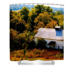 Shower Curtain featuring the photograph Touch Of Old Country by Peggy Franz