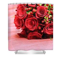 Touch Of Red Shower Curtain