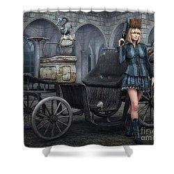 Tough Lady Shower Curtain by Jutta Maria Pusl