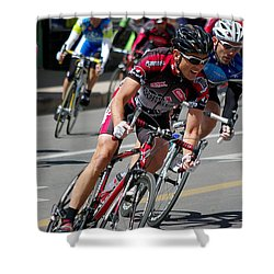 Shower Curtain featuring the photograph Tour Of The Gila - Criterium  by Vicki Pelham