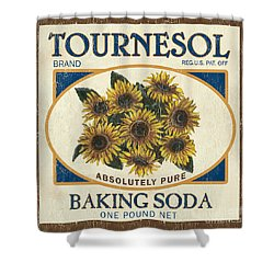 Tournesol Baking Soda Shower Curtain by Debbie DeWitt