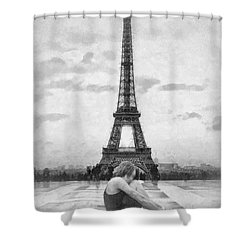 Tourterelle Shower Curtain by Mo T