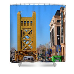 Tower Bridge 4 Shower Curtain by Barry Jones