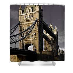 Tower Bridge Shower Curtain by David Pyatt
