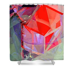 Tower Poly 21 Tree House Shower Curtain by Russell Kightley