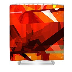 Tower Series 14l Shower Curtain by Russell Kightley