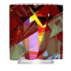 Tower Series 20 Night House Shower Curtain by Russell Kightley
