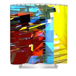 Tower Series 32 Golden Stairway Shower Curtain by Russell Kightley