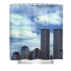 Towers Shower Curtain by Skip Willits
