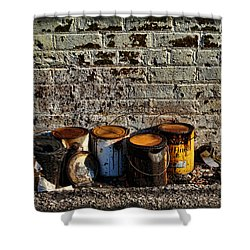Toxic Alley Grunge Art Shower Curtain by Kathy Clark