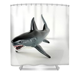 Toy Shark Shower Curtain by Photo Researchers, Inc.