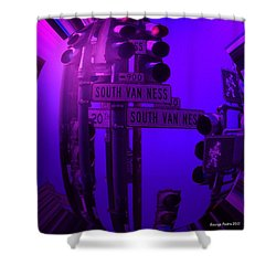 Shower Curtain featuring the photograph Traffic Stop by George Pedro