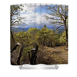 Trail At Cathedral Hills Shower Curtain by Mick Anderson
