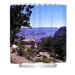 Trail To The Canyon Shower Curtain by Dany Lison