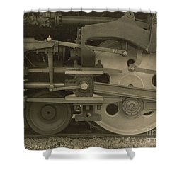 Train Wheels Shower Curtain by Photo Researchers